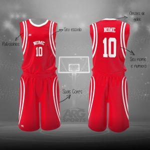 Kit Basquete Personalizado Vermelho - B008