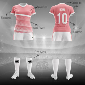 Kit Completo Futebol Feminino Personalizado - F002