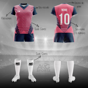 Kit Completo Futebol Feminino Personalizado - F003