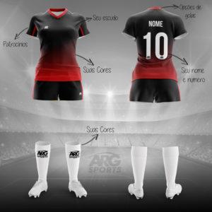 Kit Completo Futebol Feminino - F004