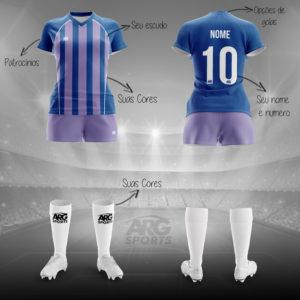 Kit Completo Futebol Feminino - F006