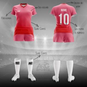 Kit Completo Futebol Feminino - F007