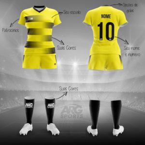 Kit Completo Futebol Feminino - F008
