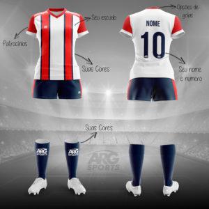 Kit Completo Futebol Feminino - F010