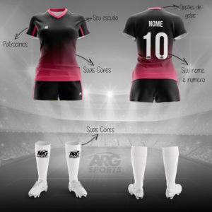 Kit Completo Futebol Feminino - F011