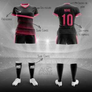 Kit Completo Futebol Feminino - F012