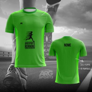 Camiseta Dry Fit Corrida Verde – C003