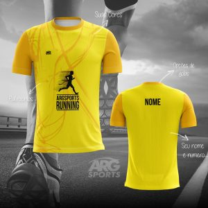 Camiseta Dry Fit Corrida Amarela – C005