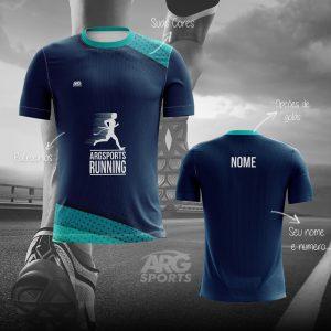 Camiseta Dry Fit Corrida Winner Azul Marinho - C011