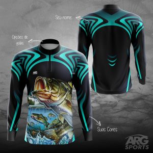 Camiseta Pesca Black Bass