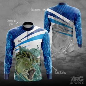 Camiseta-Pesca-Tucunaré-Azul