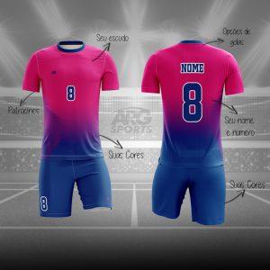 Kit Vôlei Personalizado Pink Degradê - V010