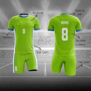 Kit Vôlei Personalizado Verde Limão - V014
