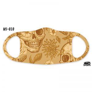 Máscara Personalizada Caveira Gold