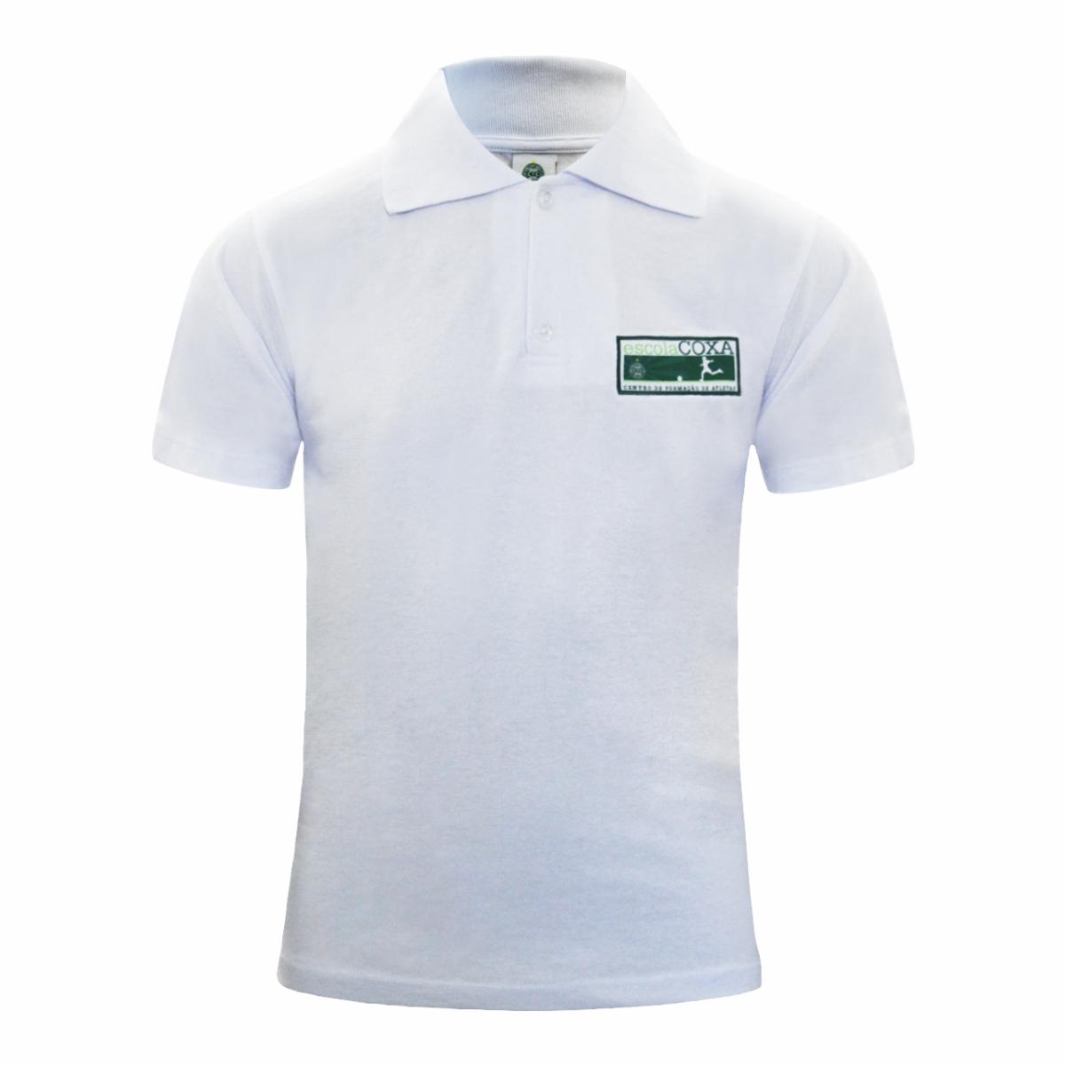 Camisa Polo Branca Escola Coxa