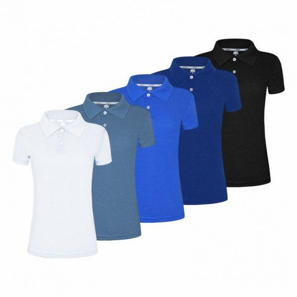 Camisa Polo Feminina. personalização de uniformes 5aff13345ed3e